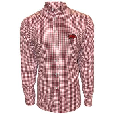 Arkansas Pennington And Bailes Stretch Gingham Long Sleeve
