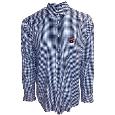 Auburn Pennington And Bailes Stretch Gingham Long Sleeve