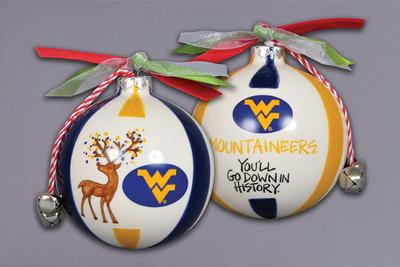 West Virginia Magnolia Lane Reindeer Ornament