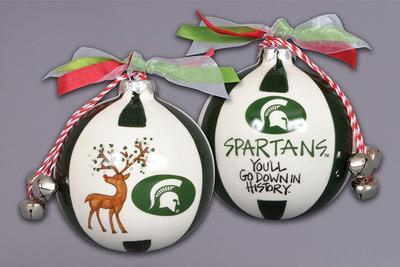 Michigan State Magnolia Lane Reindeer Ornament