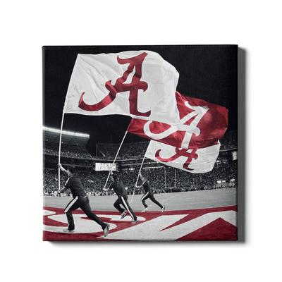 Alabama 16in X 16in Flags Canvas