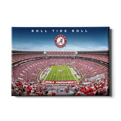 Alabama 24in x 16in Roll Tide Roll Canvas