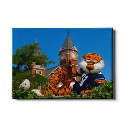 Auburn 24in x 16 in Aubie Mascot Canvas