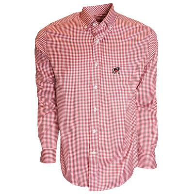 Georgia Pennington And Bailes Stretch Gingham Long Sleeve