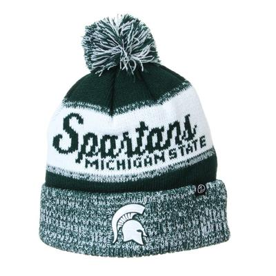 Michigan State Zephyr Spartans Pom Beanie