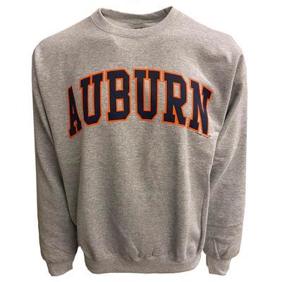 Auburn Arch Logo Crew Sweatshirt SPORT_GREY
