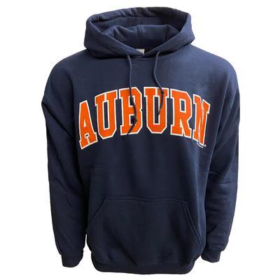 Auburn Arch Logo Hoodie Sweatshirt NAVY