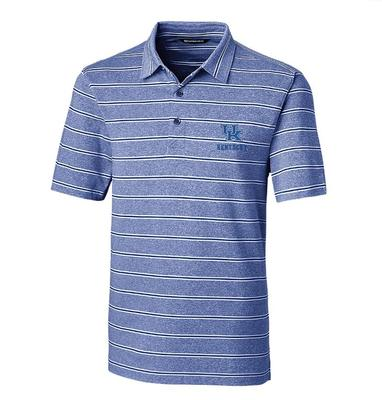 Kentucky Cutter & Buck Men's Forge Heather Stripe Polo