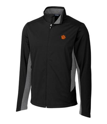 Clemson Cutter & Buck Men's Navigate Softshell Jacket