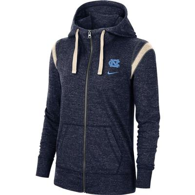 UNC Nike Women's Gym Vintage Full Zip Jacket