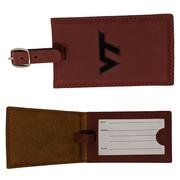 Virginia Tech Leather Luggage Tag