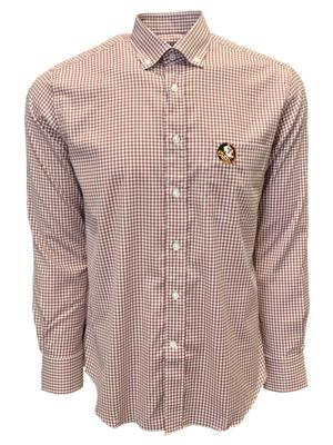 Florida State Pennington And Bailes Stretch Gingham Long Sleeve