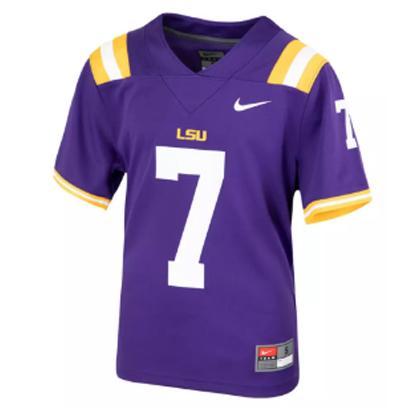 Lsu Kids Nike # 7 Replica Football Jersey