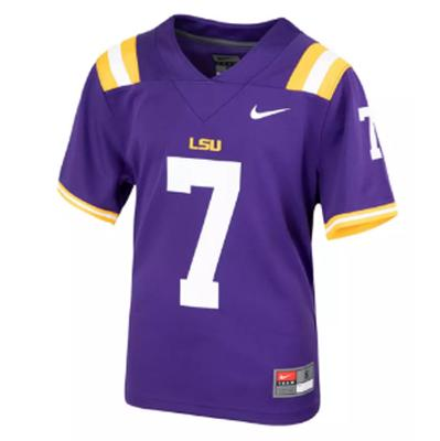 LSU KIDS Nike #7 Replica Football Jersey