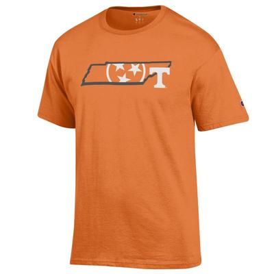Tennessee Champion Men's Tri Star State Tee Shirt