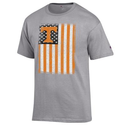 Tennessee Champion Men's American Flag Tee Shirt