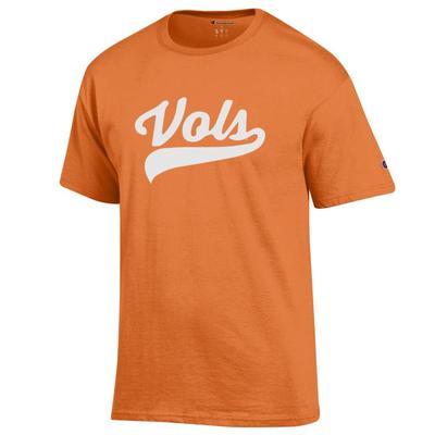 Tennessee Champion Men's Vols Script Tee Shirt