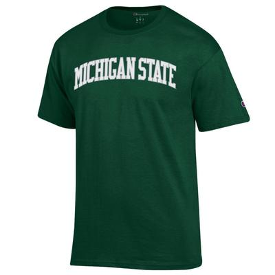 Michigan State Champion Men's Arch Tee Shirt DK_GREEN