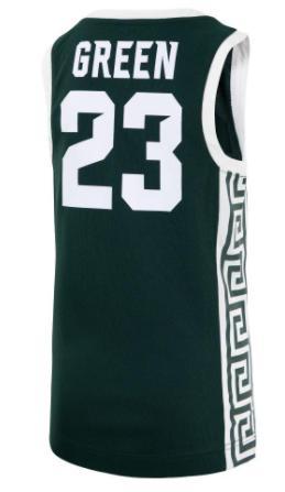 Michigan State Youth Green Basketball Jersey