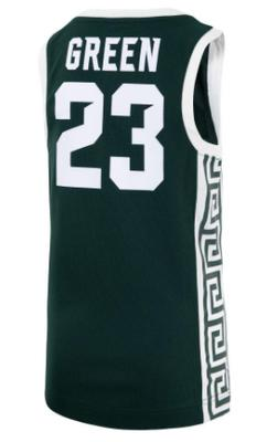 Michigan State YOUTH Green Basketball Jersey