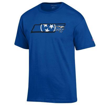MTSU Champion Men's Tri Star State Tee Shirt