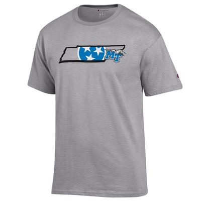 MTSU Champion Men's Tri Star State Tee Shirt