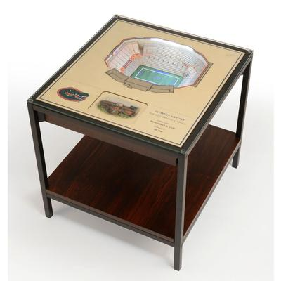 Florida Ben Hill Griffin Stadium Lighted End Table