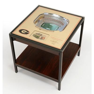 Georgia Sanford Stadium Lighted End Table
