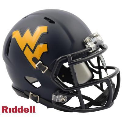 West Virginia Riddell Speed Satin Mini Helmet