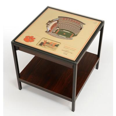 Clemson Memorial Stadium Lighted End Table