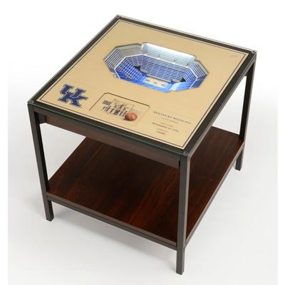 Kentucky Rupp Arena Lighted End Table