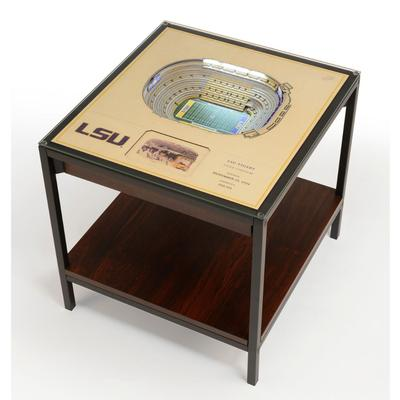 LSU Tiger Stadium Lighted End Table