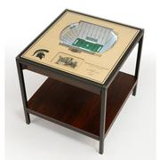 Michigan State Spartan Stadium Lighted End Table
