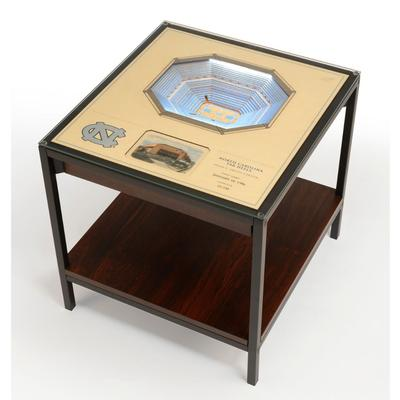 North Carolina Dean E Smith Center Lighted End Table