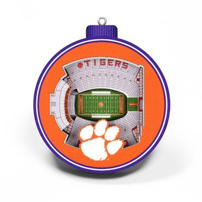 Clemson 3D Stadium Ornament