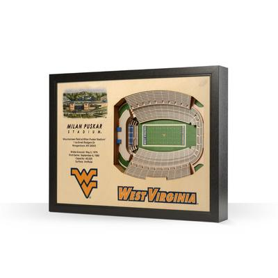 West Virginia Milan Puskar Stadium Wall Art