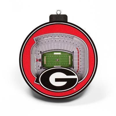 Georgia 3D Stadium Ornament