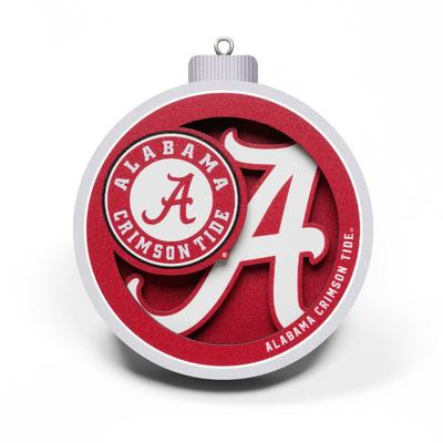 Alabama 3D Logo Ornament