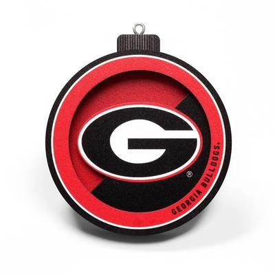 Georgia 3D Logo Ornament