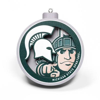 Michigan State 3D Logo Ornament