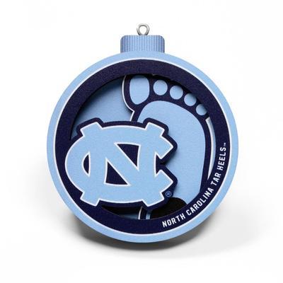 UNC 3D Logo Ornament