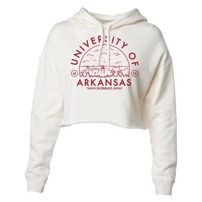 Arkansas Uscape Women's Crop Fleece Hoodie