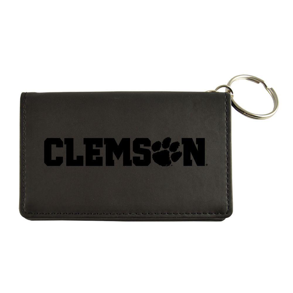 Clemson Velour Id Holder