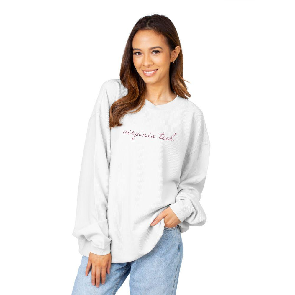 Virginia Tech Chicka- D Women's Embroidered Script Corded Sweatshirt