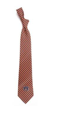 Auburn Eagles Wings Gingham Tie