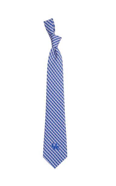 Kentucky Eagles Wings Gingham Tie