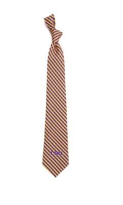 LSU Eagles Wings Gingham Tie