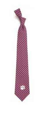 Clemson Eagles Wings Gingham Tie