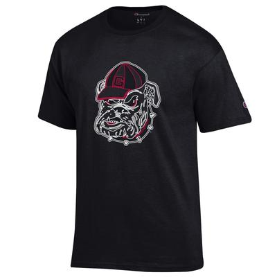Georgia Champion Men's Neon Bulldog Tee Shirt