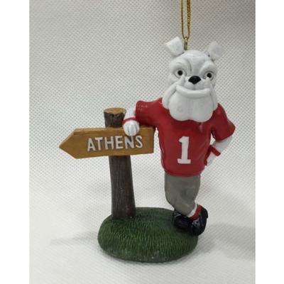 Georgia Mascot Sign Ornament